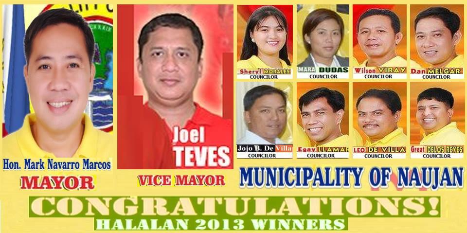Naujan 2013 Election Winners