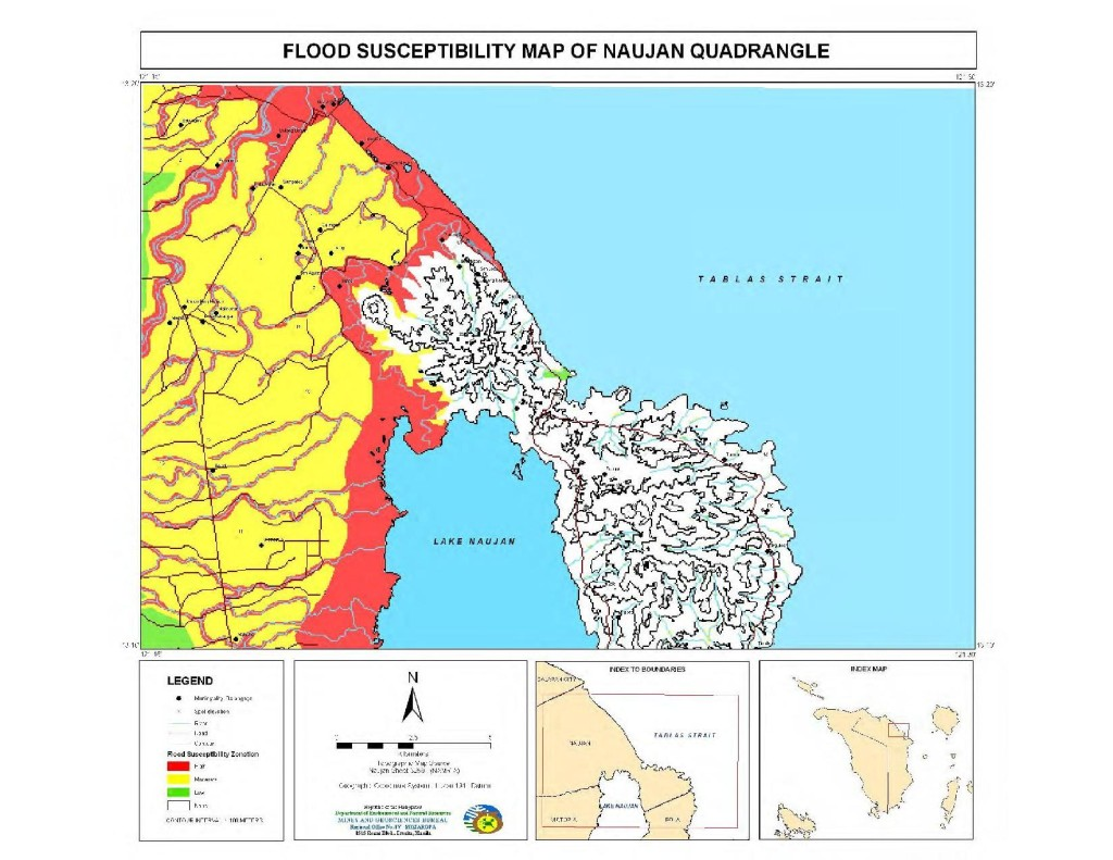 Flood Susceptibility Map of Naujan Quadrangle
