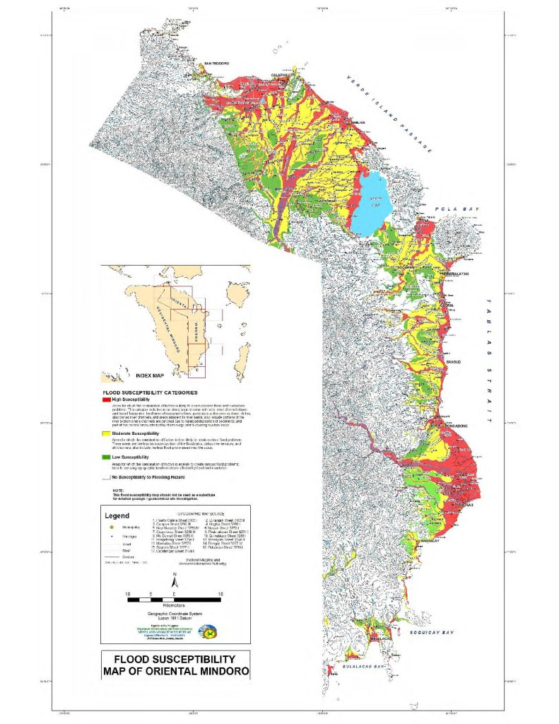 Flood Susceptibility Map of Oriental Mindoro