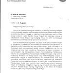 Clarification of Mayor Marcos